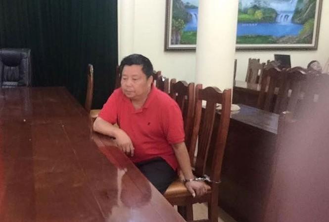 Ông trùm Voòng tại cơ quan điều tra Công an tỉnh Lạng Sơn *ảnh: Duy Chiến