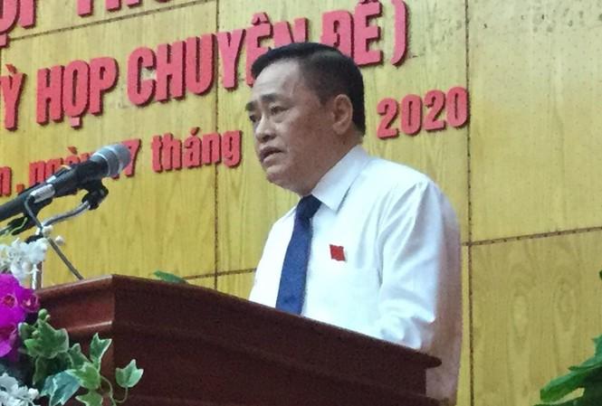 Ông Hồ Tiến Thiệu được bầu làm Chủ tịch UBND tỉnh Lạng Sơn, nhiệm kỳ 2016-2021. Ảnh: Duy Chiến