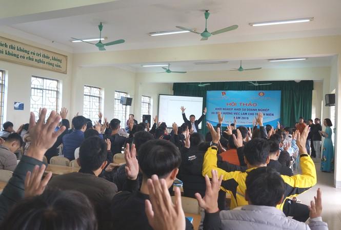 Hàng trăm sinh viên Nghệ An tham gia hội thảo Khởi nghiệp, định hướng việc làm