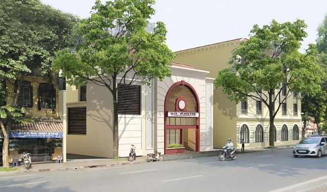 Một phác họa phối cảnh nhà ga C9 do UBND thành phố Hà Nội đề xuất