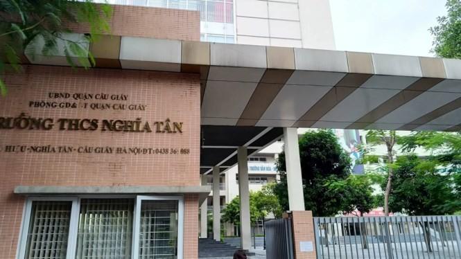 Học sinh Trường THCS Nghĩa Tân, quận Cầu Giấy, Hà Nội đạt điểm thủ khoa kỳ thi lớp 10 năm 2019.