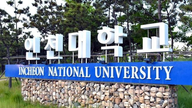 Đại học Quốc gia Incheon (Hàn Quốc), nơi thông báo sinh viên Việt Nam biến mất.