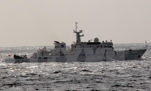 Tàu CCG số hiệu 31239 của Trung Quốc tại vùng biển gần đảo tranh chấp Điếu Ngư/Senkaku trên Biển Hoa Đông. (Nguồn: AFP/TTXVN)