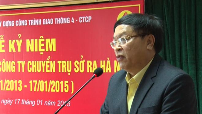 Ông Nguyễn Quang Vinh trong một lần phát biểu trên cương vị là lãnh đạo Cienco 4