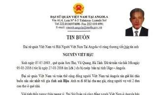 Hai người Việt Nam bị bắn chết tại Angola