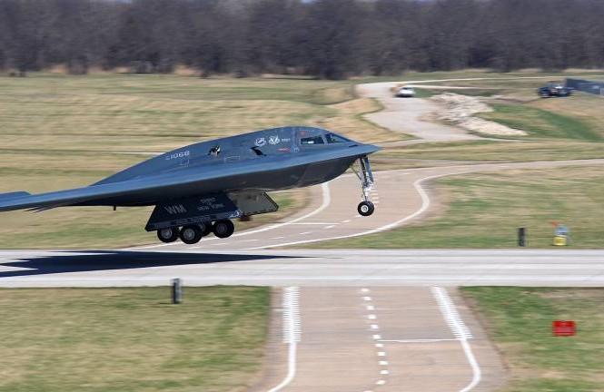 Máy bay ném bom tàng hình B-2. (Ảnh minh họa: AFP)