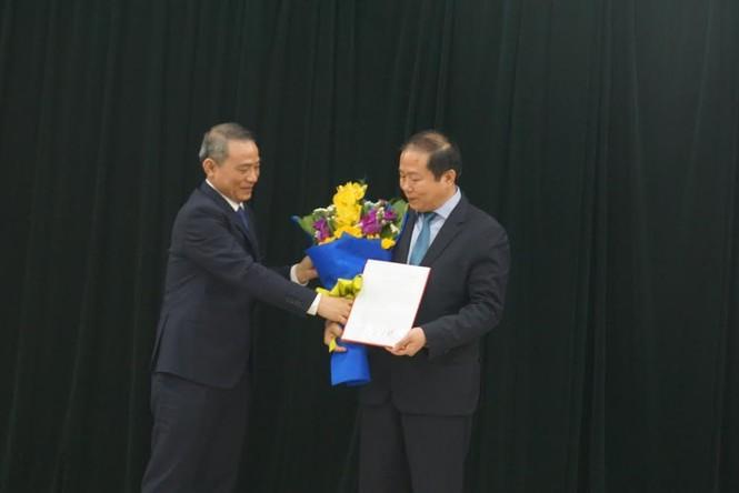 Ông Trương Quang Nghĩa, khi đó là Bộ trưởng Bộ GTVT rao quyết định bổ nhiệm Chủ tịch HĐTV cho ông Vũ Anh Minh