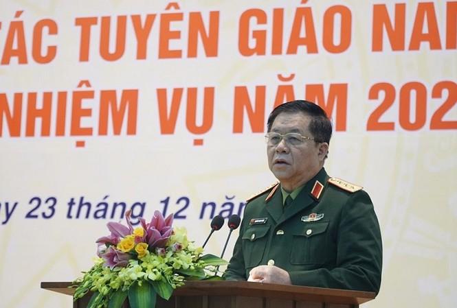 Thượng tướng Nguyễn Trọng Nghĩa, Phó Chủ nhiệm Tổng cục Chính trị Quân đội Nhân dân Việt Nam.