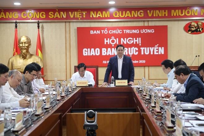 Trưởng Ban Tổ chức T.Ư Phạm Minh Chính (ảnh Xaydungdang)