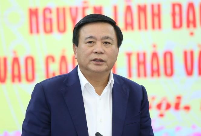 Chủ tịch Hội đồng lý luận T.Ư Nguyễn Xuân Thắng.