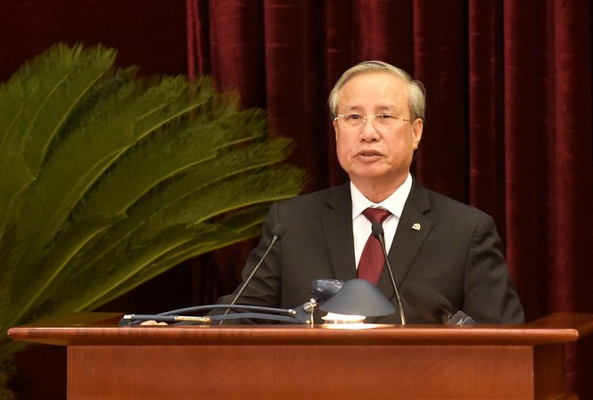 Uỷ viên Bộ Chính trị, Thường trực Ban Bí thư Trần Quốc Vượng. Ảnh: Chinhphu