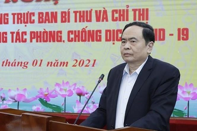 Ông Trần Thanh Mẫn, Chủ tịch Uỷ ban T.Ư MTTQ Việt Nam
