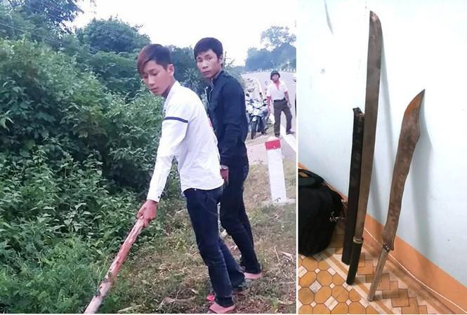 Đối tượng Khánh và Sang bị bắt khẩn cấp vì có liên quan đến vụ hỗn chiến gây ra cái chết cho Trung úy Công an và hung khí các đối tượng đã sử dụng vào vụ gây rối bị thu giữ tại CQĐT