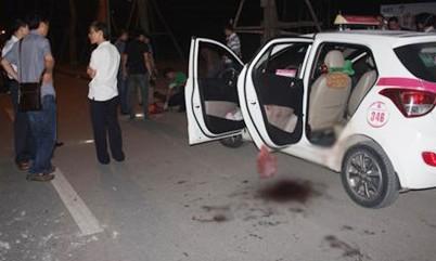 Hiện trường đối tượng Hà Văn Hiếu dùng dao sát hại tài xế taxi đêm ngày 6/10