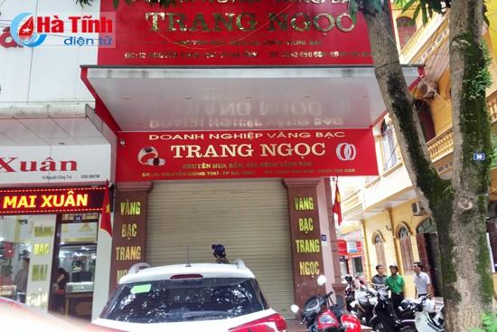 Tiệm vàng Trang Ngọc, nơi xảy ra vụ trộm