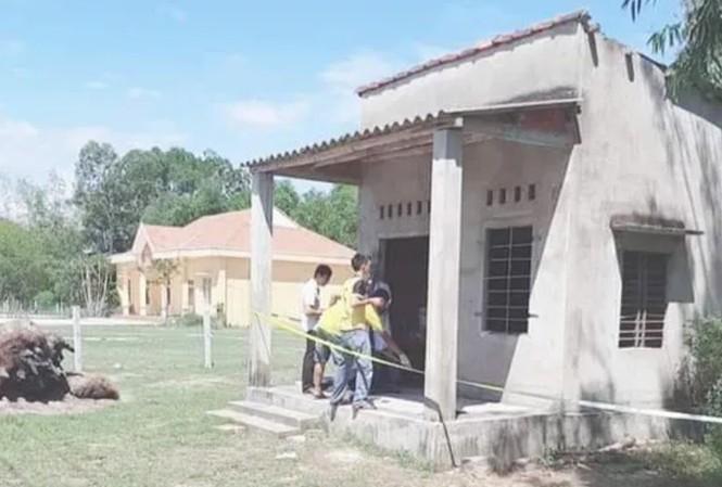 Căn nhà nơi xảy ra vụ án mạng. Ảnh: Người Lao Động