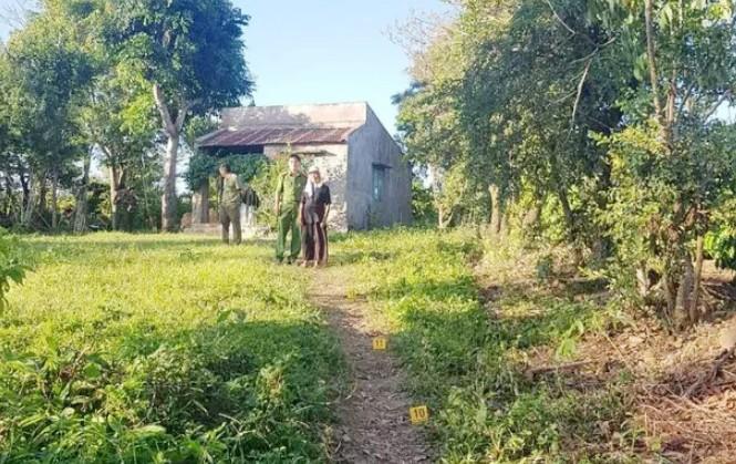 Con đường vào nhà bà Màu, nơi ông T. tử vong