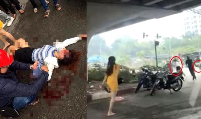Nạn nhân gục xuống đường khi bị truy sát