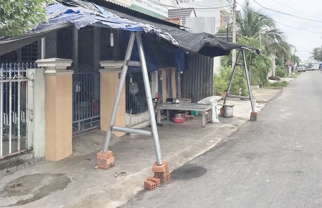 Căn nhà của vợ chồng ông bà Hồ Đắc Dương, Nguyễn Thị Thanh Thúy - nơi xảy ra vụ trọng án