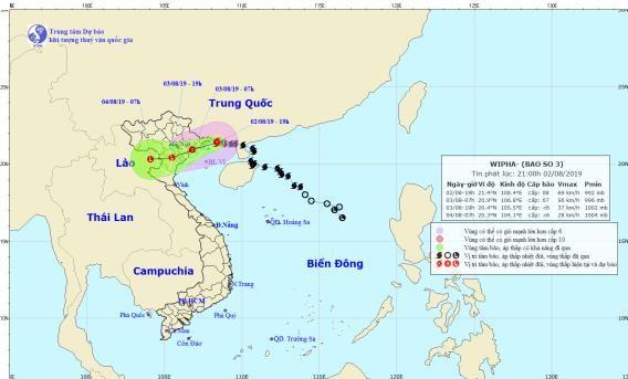 Tin mới nhất về cơn bão số 3 sắp đổ bộ vào Quảng Ninh-Hải Phòng