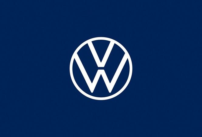 Volkswagen tung logo nhận diện thương hiệu mới