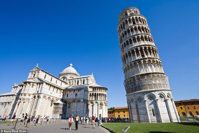 Công trình Tháp Nghiêng Pisa nằm ở thành phố Pisa (Ý)