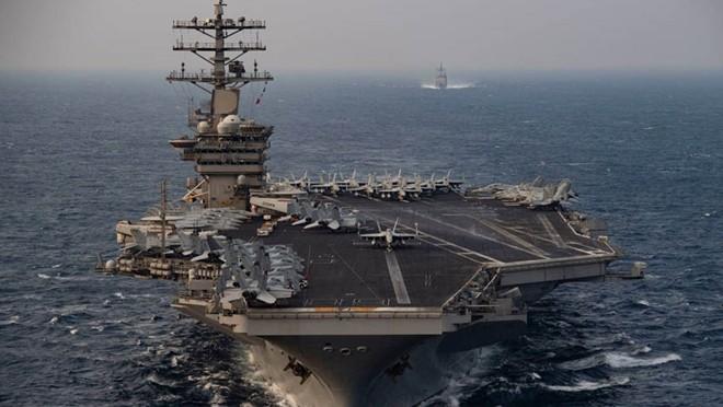 Tàu sân bay USS Nimitz của quân đội Mỹ. Ảnh: AP