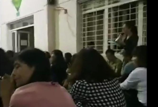 cô giáo phát ngôn gây sốc tại buổi họp phụ huynh - sảnh cắt từ clip