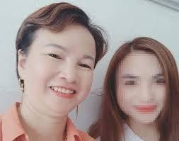 Bị cáo Trần Thị Hiền và con gái Cao Mỹ Duyên.