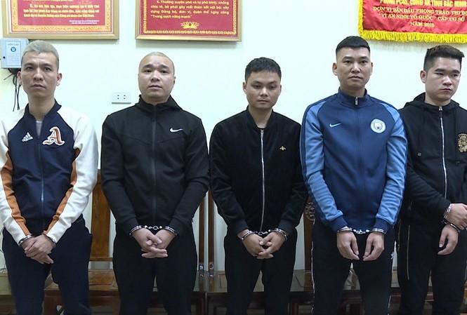 Các đối tượng bị bắt giữ trong vụ việc.