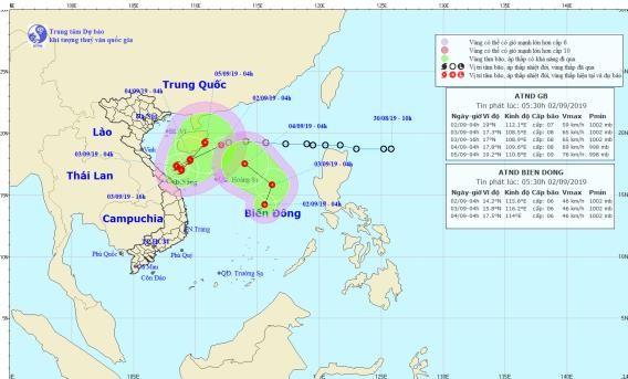 Hai áp thấp nhiệt đới cùng hình thành trên Biển Đông