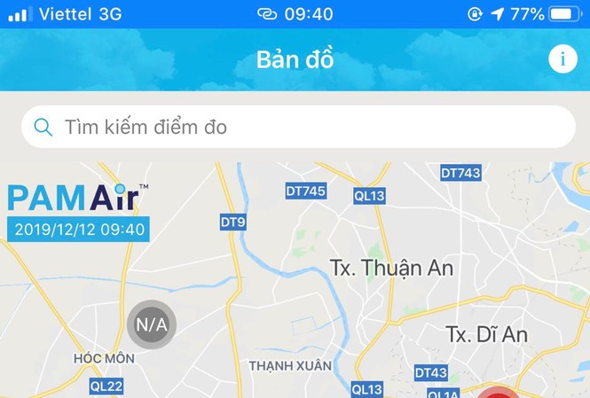 Ô nhiễm không khí nghiêm trọng tại TPHCM sáng nay, theo ghi nhận của PAMAir