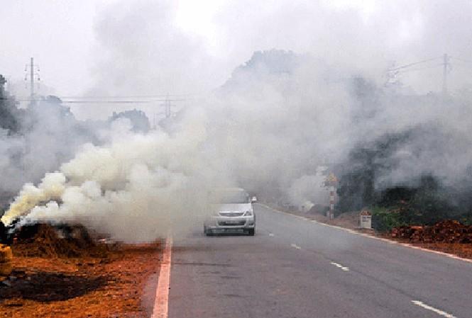 Đốt rơm rạ được coi là nguyên nhân chính gây ô nhiễm không khí Hà Nội và các tỉnh đồng bằng Bắc Bộ mấy ngày qua. Ảnh minh họa.
