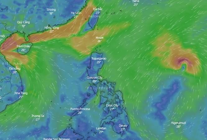 Bão Goni dự báo đi vào Biển Đông trong những ngày tới.