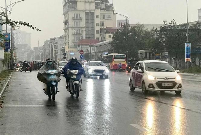 Gió mùa đông bắc gây mưa từ chiều tối mai (6/3).