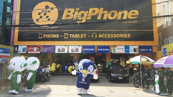 Cửa hàng Bigphone của Thế giới di động tại Campuchia