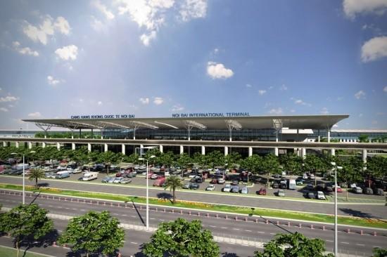 Toàn cảnh nhà ga T2 Nội Bài. Ảnh: Internet