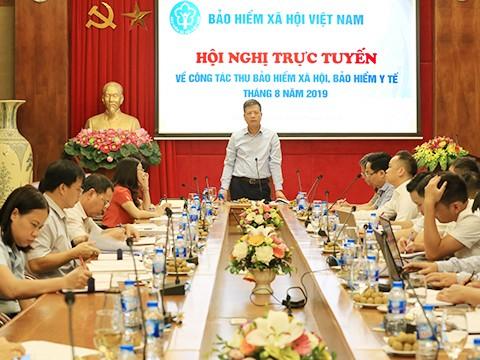 Phó Tổng Giám đốc BHXH Việt Nam Trần Đình Liệu phát biểu chỉ đạo hội nghị