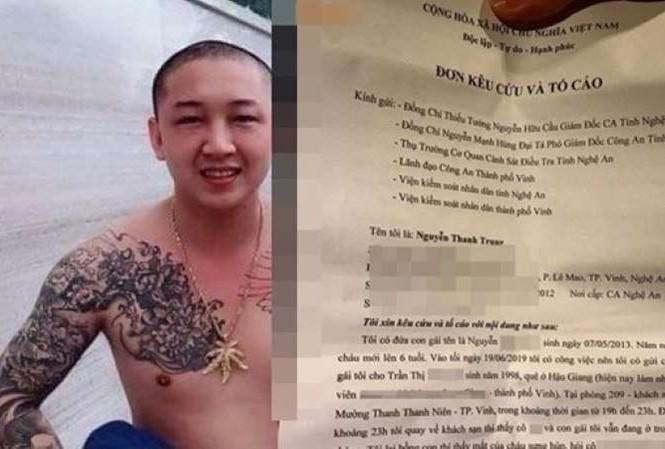 Trung đã gửi đơn tố cáo T.A tổ chức hiếp dâm con gái trước đó.