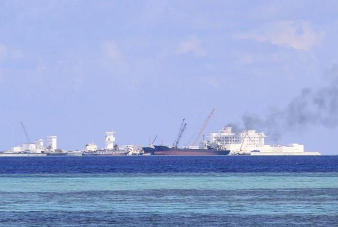 Đảo Gạc Ma. Ảnh chụp tháng 5/2015. Ảnh: Trường Phong