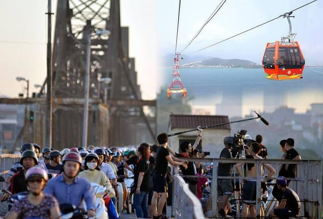 Theo đề xuất của Tập đoàn Poma, tuyến cáp treo vượt sông Hồng sẽ chạy song song với cầu Long Biên.