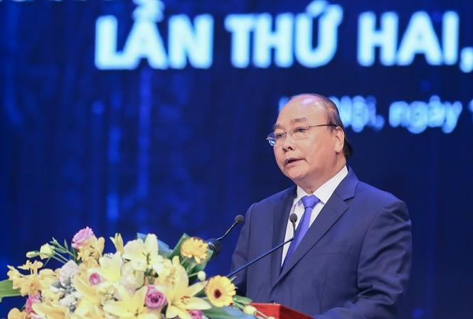 Thủ tướng Chính phủ Nguyễn Xuân Phúc phát biểu tại buổi lễ. Ảnh: Như Ý