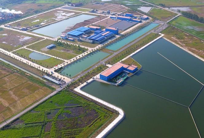 Hồ lắng nhà máy nước Sông Đuống - Ảnh: Hoàng Mạnh Thắng