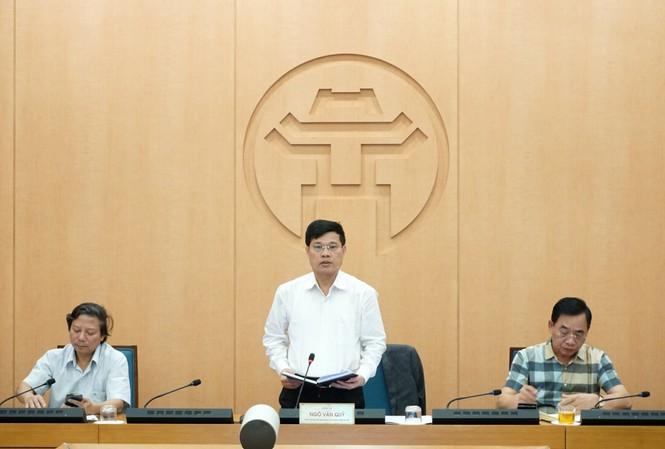 Phó Chủ tịch UBND thành phố Hà Nội Ngô Văn Quý kết luận cuộc họp giao ban công tác phòng chống dịch COVID-19 chiều 28/10