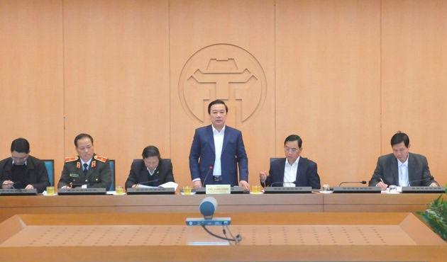 Ông Chử Xuân Dũng phát biểu kết luận cuộc họp