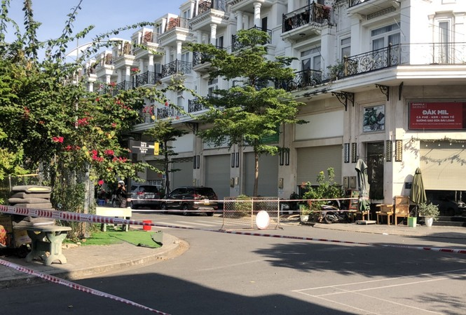 Một số căn hộ trong khu dân cư Cityland bị phong toả chiều ngày 4/12