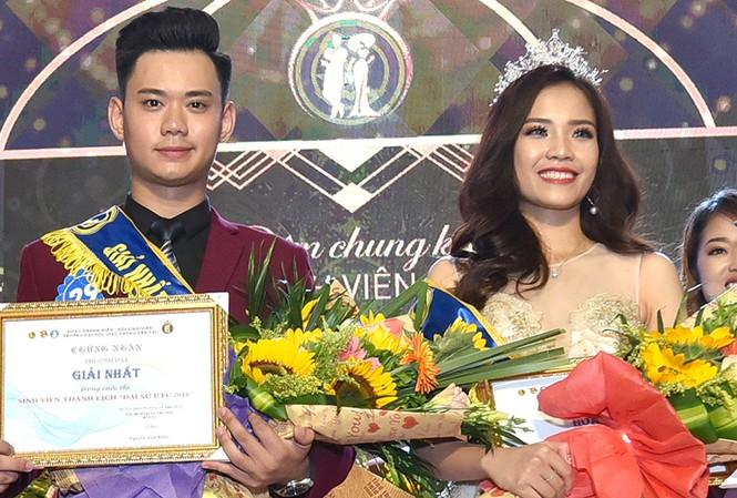 Nguyễn Thị Phấn và Nhữ Minh Tuấn đã trở thành Hoa khôi và Nam vương Trường Đại học Giao thông Vận tải