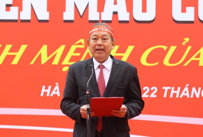 Phó Thủ tướng thường trực Trương Hòa Bình phát biểu tại chương trình.