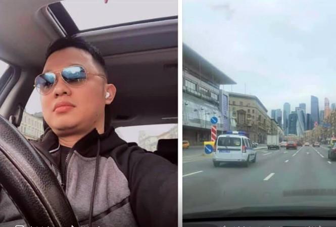 Anh Vũ Hải Nam lái xe lấy khẩu trang về tặng miễn phí.