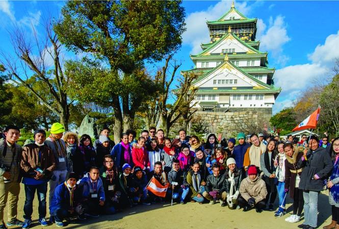 Đoàn đại biểu Việt Nam tham gia chương trình Giao lưu thanh niên, sinh viên Nhật Bản - Đông Á (JENESYS) nhóm Kinh tế  năm 2016. (Ảnh tư liệu)